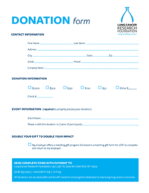 Event donation form