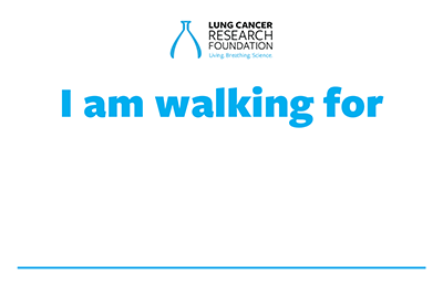 I am walking for...